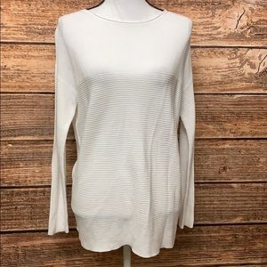 - Eileen Fisher Beautiful White Ribbed Sweat…